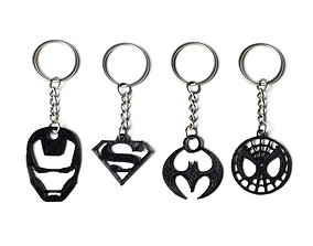 3D print model Superhero Keychains