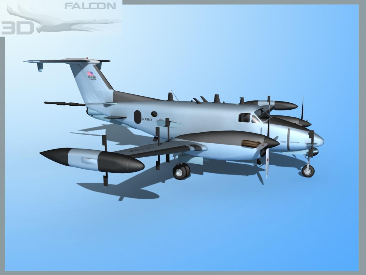 RC-12P Guardrail 3 US Army   3D model