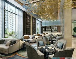 The hotel lobby reception desk design 03 3D Model