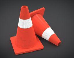 realtime 3d model traffic cones