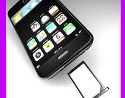 3D iPhone 3G with sim card