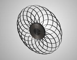 Modern clock 3D model low-poly