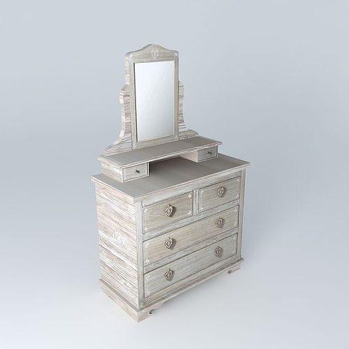 Camille Dressing Table Maisons Du Monde 3d Model