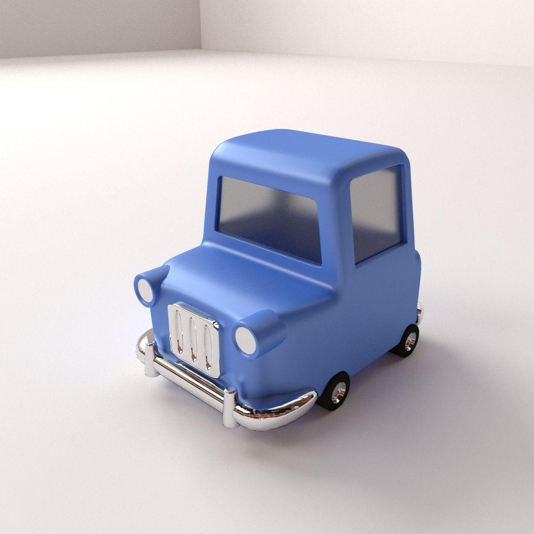 3d Model Cartoon Car Cgtrader