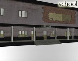 3D asset Deserted School