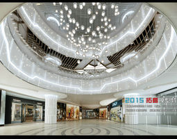 fashionable shopping mall design 02 3d model max