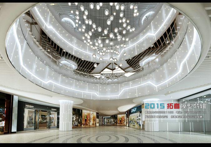 fashionable shopping mall design 02 3d model max 1