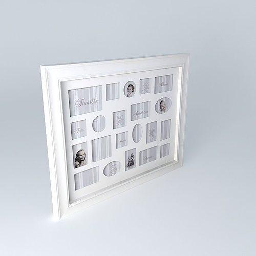 Multivues framework hortense maisons du monde 3d model max for Maison du monde job