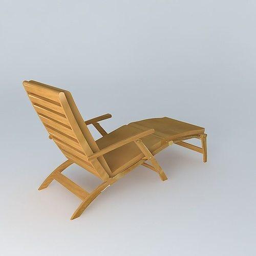 mattresses turquoise deckchair olron houses the world 3d model max obj mtl 3ds fbx stl dae 1