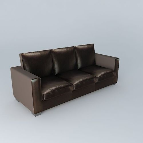 Sofa Kennedy Crust Leather Maisons Du Monde 3d Model Max