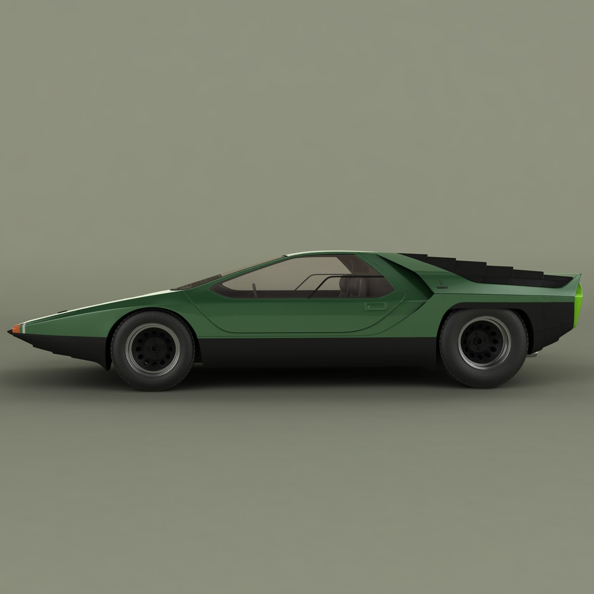 Alfa Romeo Carabo 3D Model MAX OBJ 3DS