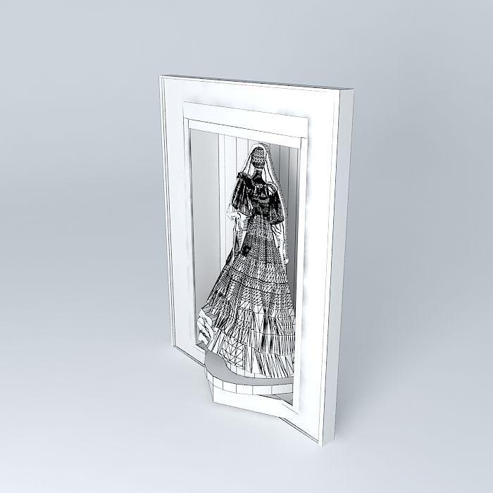 Princess DIANA Wedding Dress 3D model | CGTrader