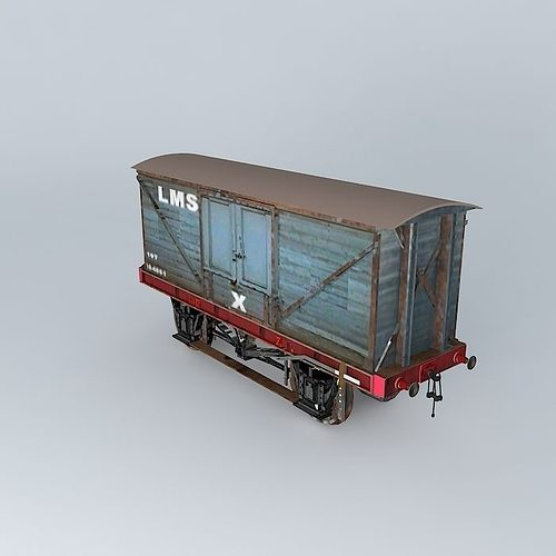 lms box van 3d model max obj mtl 3ds fbx stl dae 1