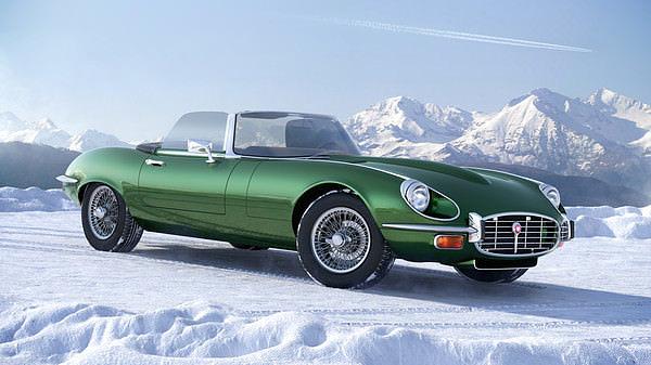 jaguar e-type 3d model max obj 3ds c4d tga 1