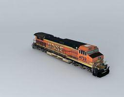 3d model eco rail dash 9 dummy! weathered