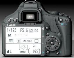 Canon 450D 3D Model