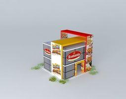 romania trade fair pavilion 3D model