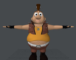 rigged fat boy 3d model realtime