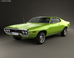 3d model plymouth satellite 1971