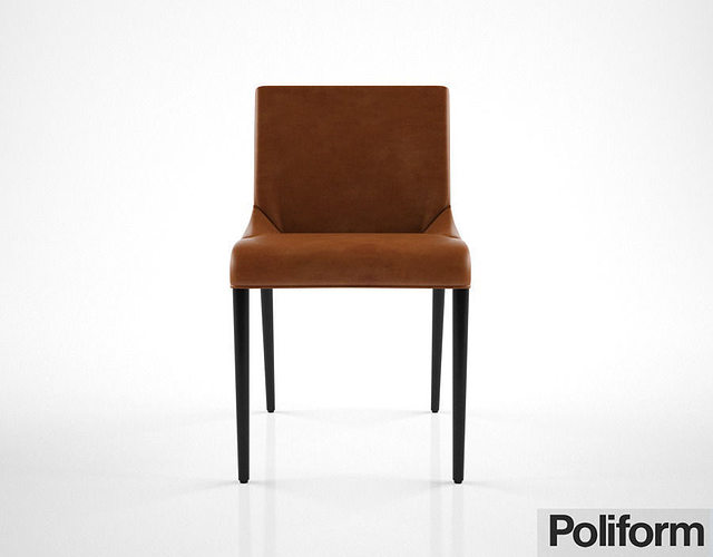 Poliform seattle chair 3d model cgtrader for Furniture removal seattle