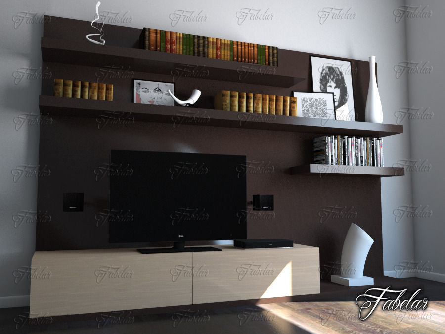 Surprising Tv Cabinet 3D Model Download Free Architecture Designs Scobabritishbridgeorg