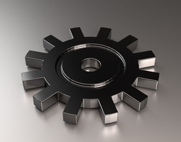 Steel Cogwheel 3D model
