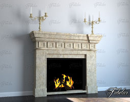 Fireplace 3D mentalray