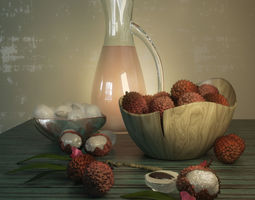 3D model composition of fruits