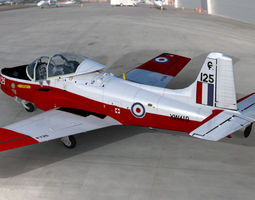 RAF Jet Provost T5 two seat trainer aircraft 3D model