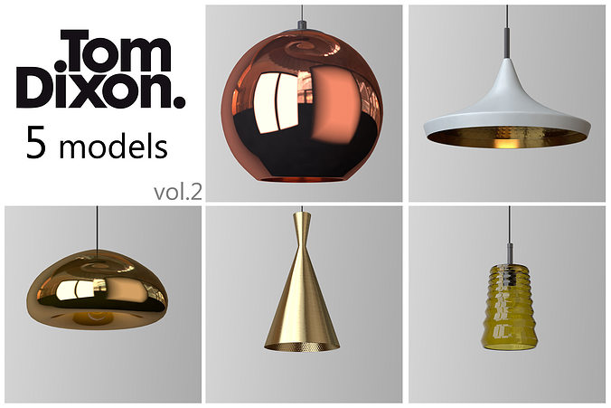 tom dixon lighting set 2 3d model - Tom Dixon Lighting