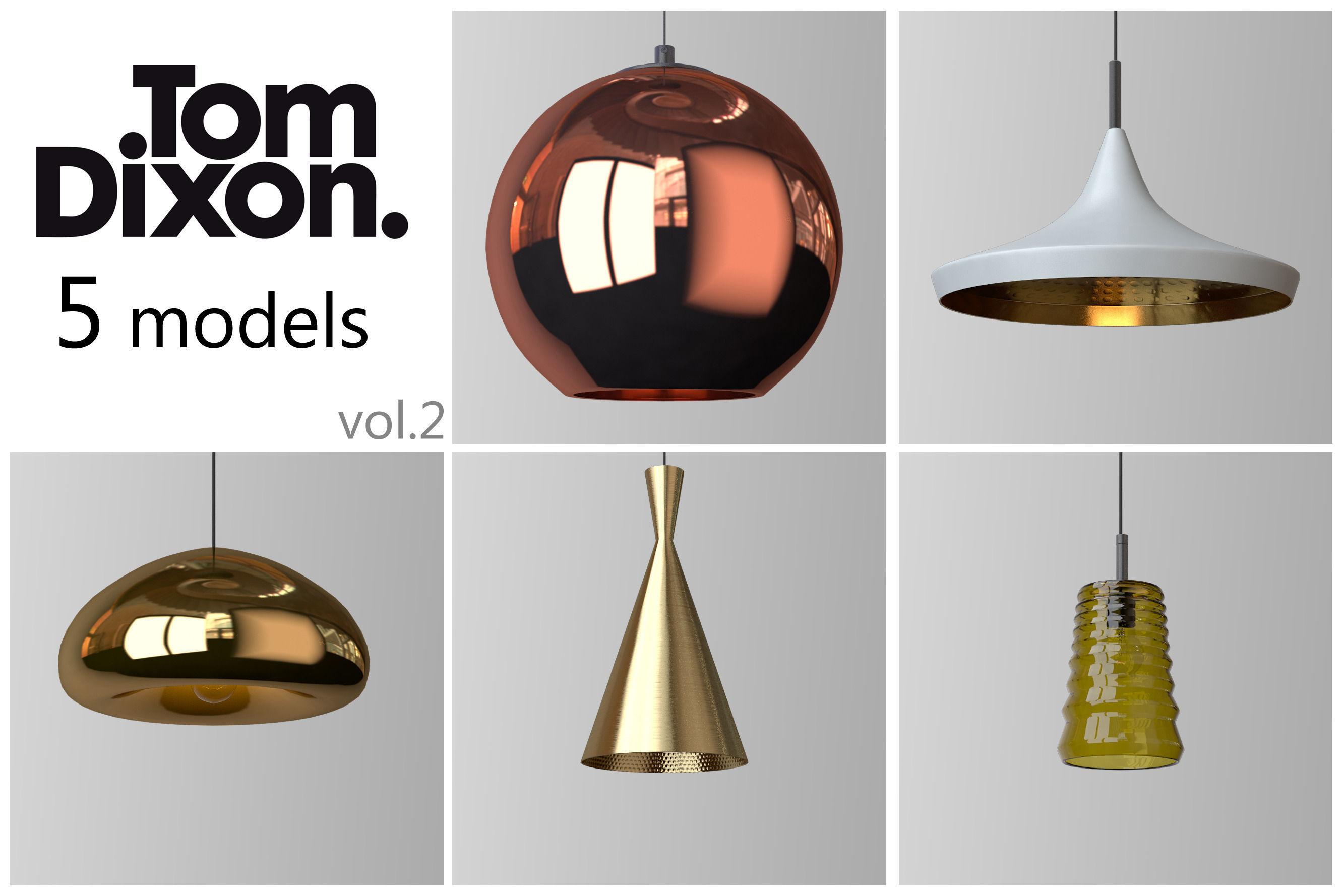 tom dixon lighting set  d model max obj - tom dixon lighting set  d model max obj