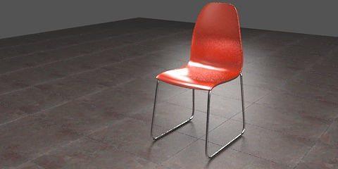 Plastic Chair 3d Model Obj 3ds Blend Mtl 1