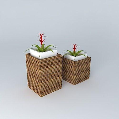 Wicker Vases 3d Cgtrader