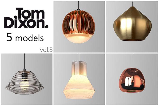 tom dixon lighting set 3 3d model max obj mtl 1