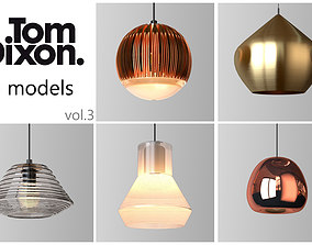 TOM DIXON lighting set 3 3D