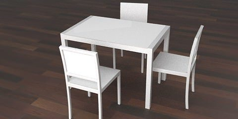 White Kitchen Table 3d white kitchen table | cgtrader