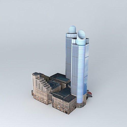 grand gateway plaza  3d model max obj mtl 3ds fbx stl dae 1