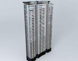 3D Skyline Mansion Tower