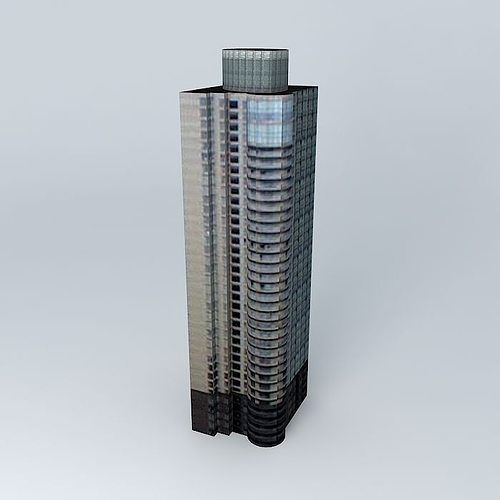 fortune garden tower 3d model max obj mtl 3ds fbx stl dae 1