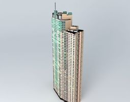 3D model Shimao Riviera Garden Tower