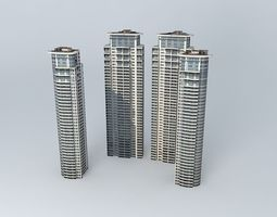 3D model Tomson Riviera Towers