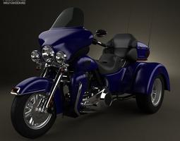 3d model harley-davidson tri glide ultra classic 2012