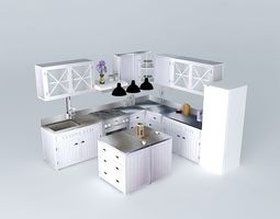 3d model newport the l shaped kitchen island world houses