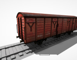 3d asset animated low-poly freight wagon ws 03