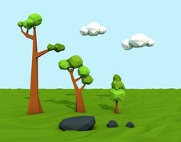 3D model Mini Low Poly Nature Pack