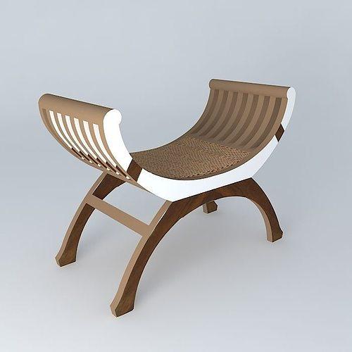 rattan stool kipling 3d model max obj mtl 3ds fbx stl dae 1