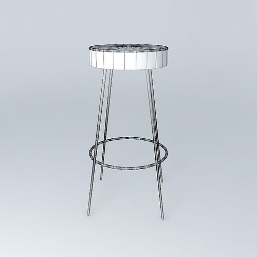 Bar Stool Red Caps Houses The World 3d Model Max Obj 3ds