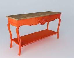 Haute couture orange console 3D model