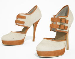 3d model VR / AR ready high heel shoe