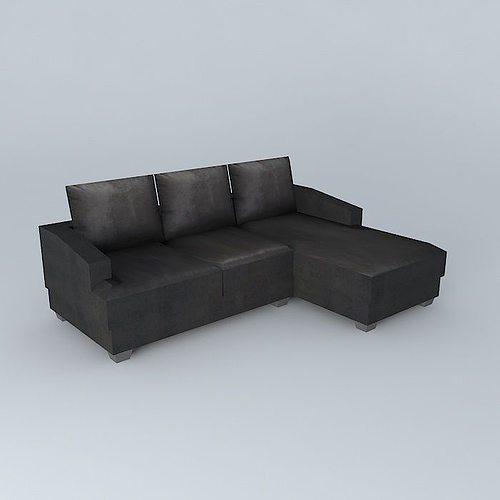 Philadelphia Black Sofa Houses The World Model Max Obj Mtl S Fbx Stl Dae 1